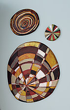 Layered Discs by Barbara Gilhooly (Mixed-Media Wall Art)