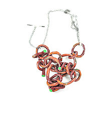 Large Links Necklace by Lindsay Locatelli (Polymer Clay Necklace)