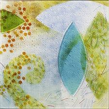 Floating Downstream by Martha Pfanschmidt (Art Glass Wall Sculpture)