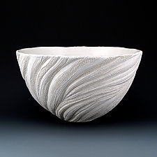 Coral Wisps Reed Medium Plus Bowl by Judi Tavill (Ceramic Bowl)