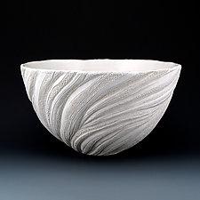 Coral Wisps Reed Medium Plus Bowl by Judi Tavill (Ceramic Bowl)
