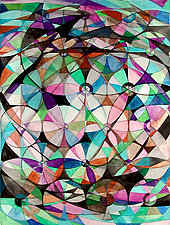 Wheel within a Wheel 41 by Lorien Suarez (Watercolor Painting)
