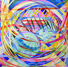 Wheel within a Wheel 51 by Lorien Suarez (Watercolor Painting)