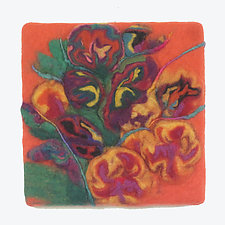 Garden/Joy II by Sharron Parker (Fiber Wall Art)