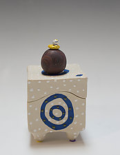 Blue Ring Box by Vaughan Nelson (Ceramic Box)