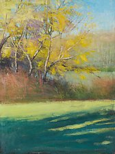 Yellow River Trees by David Skinner (Acrylic Painting)