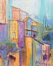 The Balcony by Dorothy Fagan (Mixed-Media Wall Art)