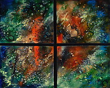 Orion Quartet by Cynthia Miller (Art Glass Wall Sculpture)