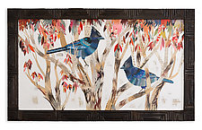 Steller's Jay Collage by Dolan Geiman (Mixed-Media Wall Art)