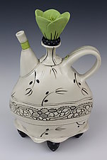 Lace Collar Tea by Laura Peery (Ceramic Teapot)