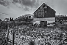 Farm - Sandtorgholmen, Norway by J.L. Rodman (Black & White Photograph)