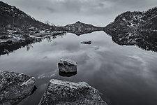 Shadowlands - Lofoten Islands, Norway by J.L. Rodman (Black & White Photograph)