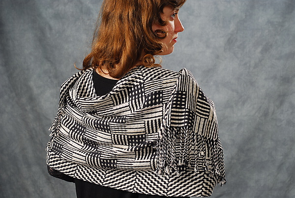 Black and White Dominoes Shawl