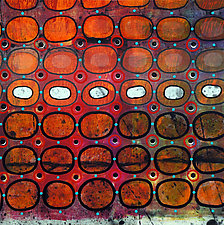 Bubbles and Cracks on Ice on Fences #3 by Jeanne Williamson  (Mixed-Media Wall Art)