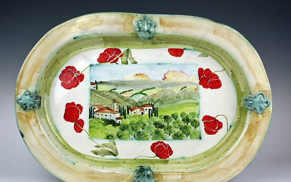 Large Oval Platter, Italian Countryside