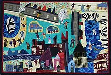 On the Square by Pamela Allen (Fiber Wall Art)