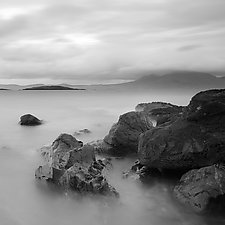 Connemara Seascape by Geoffrey Agrons (Black & White Photograph)