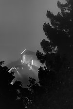 Morning Fog by Geoffrey Agrons (Black & White Photograph)