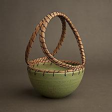 Basket by Hannie Goldgewicht (Ceramic Basket)