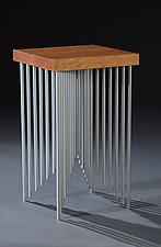 Pyramid Side Table by Carol Jackson (Wood & Metal Side Table)