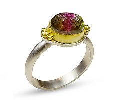 London Eye Tourmaline Ring by Nancy Troske (Gold & Stone Ring)