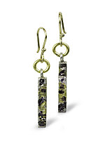 Jungle Fever Sticks by Nancy Troske (Gold & Silver Earrings)