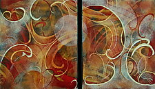 WARM Duet by Cynthia Miller (Art Glass Wall Sculpture)