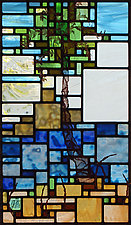 Paradise 2.0 by Josephine A. Geiger (Art Glass Wall Sculpture)