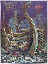 Viking Ghost by Konstantin Konstantinov (Oil Painting)