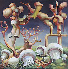Mushrooms by Konstantin Konstantinov (Oil Painting)