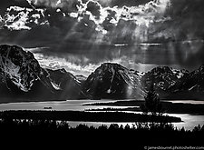Cloud Break by James Bourret (Black & White Photograph)