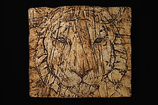 Tiger by Leslie Green (Ceramic Wall Sculpture)