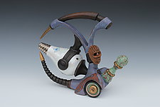 Rat Rod with Insectual Power by Gerard Ferrari (Ceramic Sculpture)