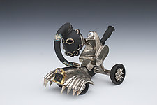 Chrome Gnome with Regenerative Exhaust and Do Face Mask by Gerard Ferrari (Ceramic Sculpture)