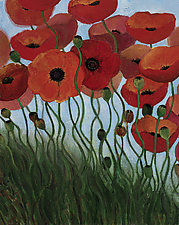 Poppies by Sarah Samuelson (Giclee Print)