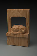 Catnap by Marceil DeLacy (Wood Sculpture)