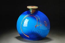Bottle Blue by Michael  Kifer (Ceramic Bottle)