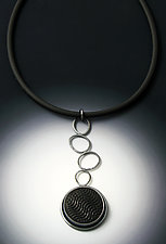 Hopscotch Pendant by Grace Stokes (Polymer Clay & Silver Necklace)