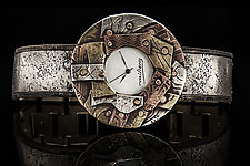 Multicolor Unisex Mosaic Watch by Eduardo Milieris (Mixed-Media Watch)