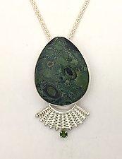 Fandango Fossil Algae Pendant by Marie Scarpa (Silver & Stone Necklace)