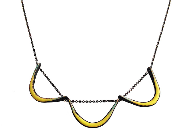 Boomerang Necklace in Chartreuse