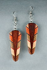 Simple Path Earrings by Martha Collins (Wood Earrings)