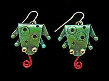 Fly Trap Earrings by Lisa and Scott  Cylinder (Metal Earrings)