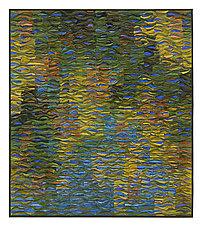Reflecting Pool Shimmer # 2 by Tim Harding (Fiber Wall Art)
