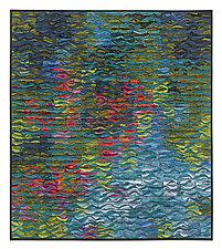 Reflecting Pool Shimmer # 3 by Tim Harding (Fiber Wall Art)
