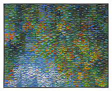 Reflecting Pool Shimmer # 4 by Tim Harding (Fiber Wall Art)