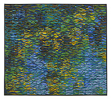 Reflecting Pool Shimmer # 5 by Tim Harding (Fiber Wall Art)