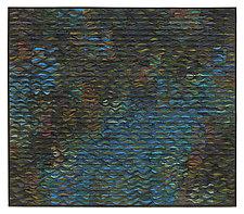 Reflecting Pool Shimmer # 7 by Tim Harding (Fiber Wall Art)