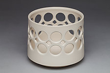 Cylindrical Bowl with Large Holes by Lynne Meade (Ceramic Bowl)