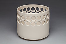 Cylindrical Bowl with Small Holes by Lynne Meade (Ceramic Bowl)